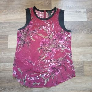 Investments sleeveless floral blouse